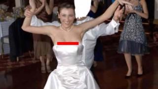 【エロ注意】ウェディングドレスでポロリしちゃってる花嫁たちの画像まとめwww