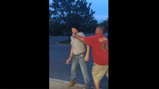 【衝撃動画】40歳のおっさんと15歳の少年のガチケンカ動画www