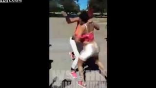 【衝撃動画】黒人は妊婦でも殴り合いのケンカするんだなw