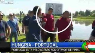 【動画】レポーターにイラつきマイクを池に放り投げる『クリスティアーノ・ロナウド』www