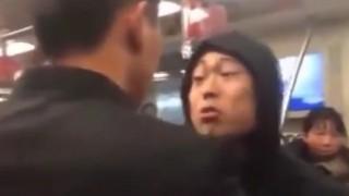 【衝撃動画】電車内でチンピラが合気道の達人にケンカ売った結果www