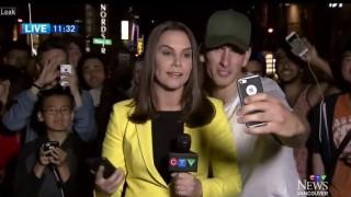 【動画】テレビ中継で女性レポーターの横に割り込みポケモンGOをしてキレられる男性。