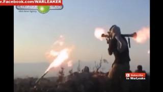 【動画】対戦車ミサイルが目の前に落下とかISISが攻撃に失敗してる動画。