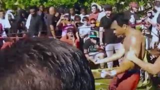 【衝撃動画】ムエタイの選手が格闘技のストリート試合に出場した結果。