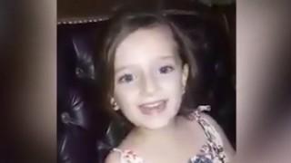 【閲覧注意】楽しそうに歌うかわいらしいシリアの少女。しかし次の瞬間・・・(動画)
