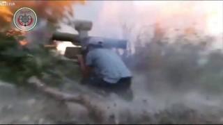 【閲覧注意】ATGM(対戦車ミサイル)が歩く兵士たちに命中する瞬間の動画。