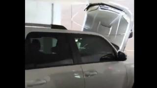 【動画】立体駐車場で駐車ミスって上層階から落下…。