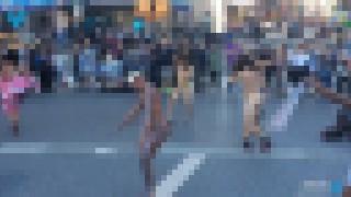 【動画】アメリカ・ユニオンスクエアで全裸になって踊り狂う男女たち…。
