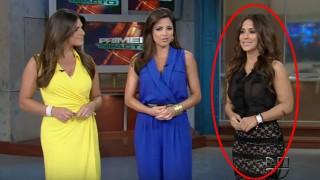 【乳首ポッチ注意】プエルトリコの巨乳美人キャスター『Jackie Guerrido』が乳首ポッチしながら天気予報www※動画2本。