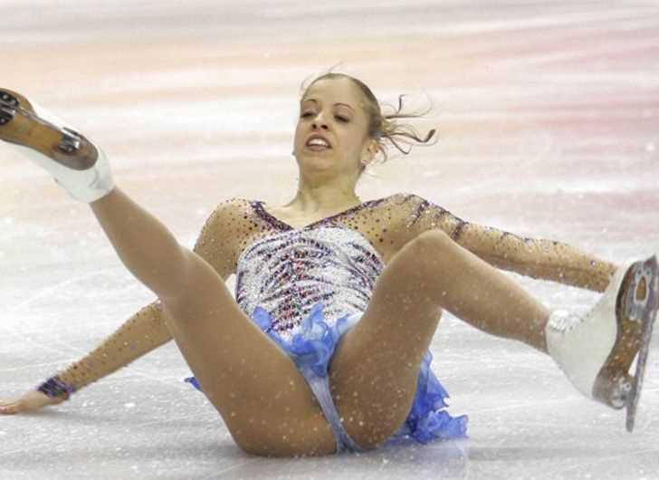 フィギュアスケートで転倒した女子選手のお股