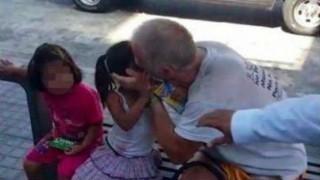 街中で小学生ぐらいの女の子にディープキスした小児性愛者はこうなる・・・(画像)