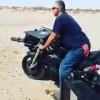 【衝撃動画】ガトリンク銃(機関銃)が装備されたバイクの射撃風景wwwww