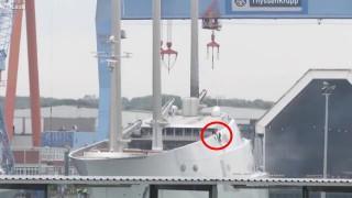 【衝撃動画】世界最大のヨット(帆船)がロシアの大富豪によって建造された。