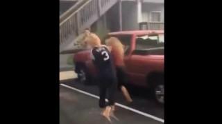 【動画】クリーンヒット連発!凶暴な女にフルボッコにされる女性。