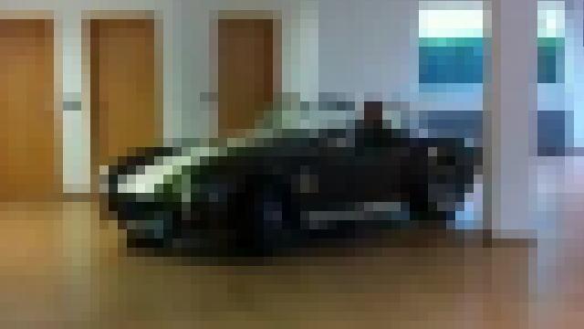 リビングルームに佇むクラシックカー(シェルビーコブラ)