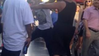メキシコ系ギャングVSストリートダンサー 激しい殴り合い