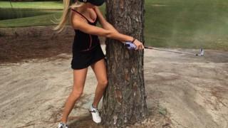 【画像】めちゃめちゃ可愛い女子ゴルファーが話題に。巨乳見せすぎだろ…