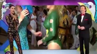 【エロ注意】ブラジルのテレビ中継で全裸にボディペイントの女性がオナラをするハプニング動画wwwww